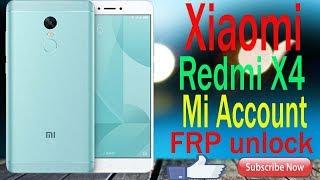 Xiaomi Redmi Note 4 / 4x Nickel Mediatek MTK Unlock Remove Account