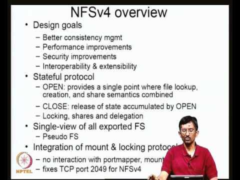 Mod-03 Lec-10 NFSv2, NFSv3, NFSv4, CIFS