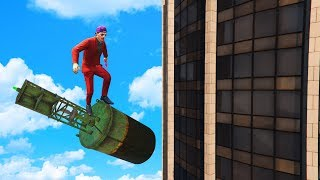 TRICK TO SURVIVE ANY FALL! (GTA 5 Funny Moments)