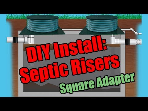 How to Install Risers and Lids on Concrete Septic Tanks w/ Square Hole