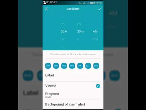 How to set mute alarm clock [coolpad note 3]
