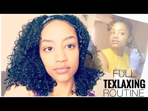 How To Relax Curly Hair | Texlaxing At Home
