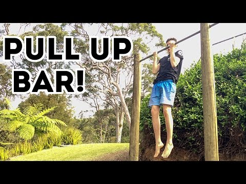 DIY Outdoor Pull Up Bar - How to Build a Pull Up Bar