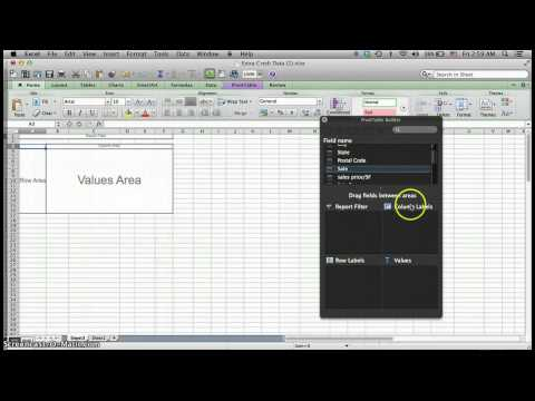Introduction to Pivot Tables Mac Excel 2011