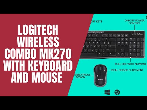 Logitech Wireless Combo MK270 with Keyboard and Mouse  UNBOXING