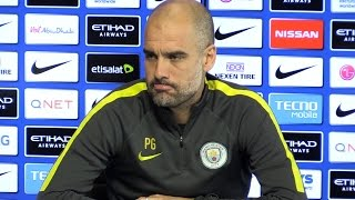 Pep Guardiola Pre-Match Press Conference - Manchester City v Manchester United - Embargo Extras