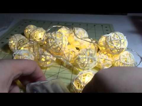 Goodia Rattan Ball String Lights