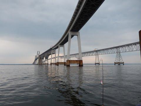 Chesapeake Bay Bridge Underwater Pilings