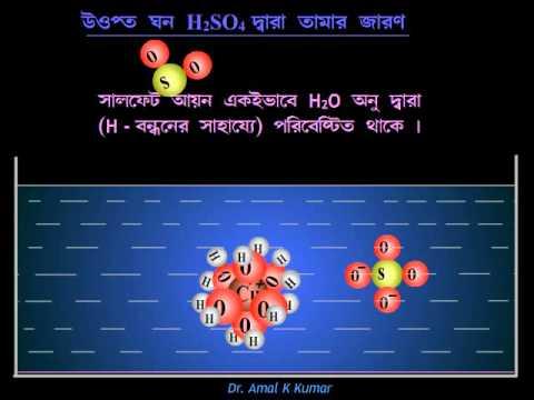 Oxidation of Copper by Sulphuric Acid (H2SO4 -এর জারণ ক্ষমতা)