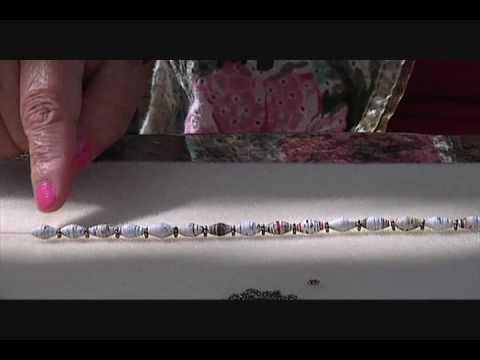 Elastic Paper Bead Bracelet