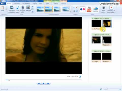 Windows Live Movie Maker Tutoria #7: Mix Audio with Video with Fade In/Out