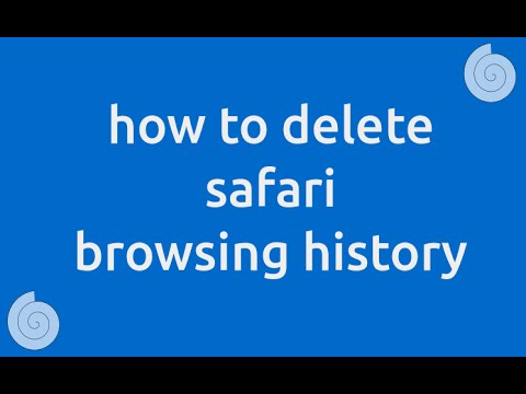 How to delete safari browsing history