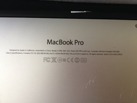 MACBOOK PRO A1398 Retina Display Replacement