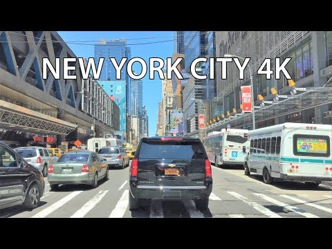 Driving Downtown 4K - NYC's Midtown & Central Park West - New York City USA