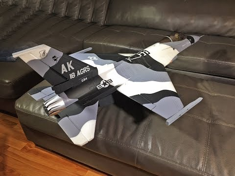Freewing F-16 V2 6S-Pro Arctic Camo 70mm EDF Jet build Part ONE Motion RC