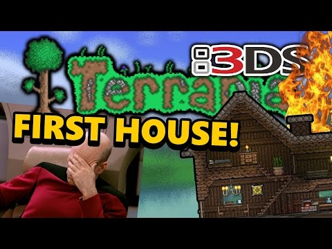 Terraria 3DS - Part 02: FIRST HOUSE (Nintendo 3DS Playthrough)
