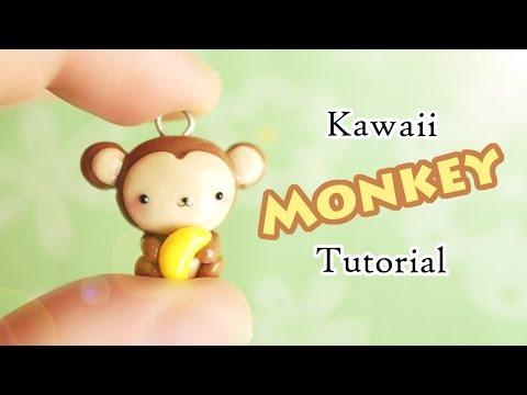 Kawaii Monkey │ Polymer Clay Tutorial (Collab w/ pastelcharmsTV)