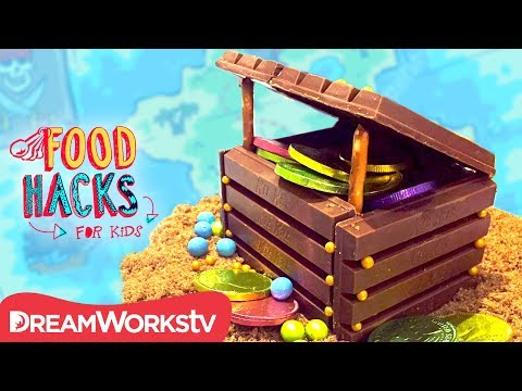 Chocolate Treasure Chest + More Pirate Hacks | FOOD HACKS FOR KIDS