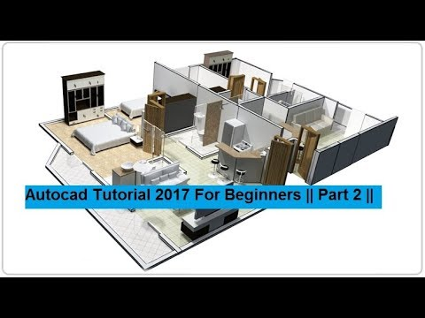 Auto cad Tutorial || 2017 Basic Training For Beginners || Part 2 ||