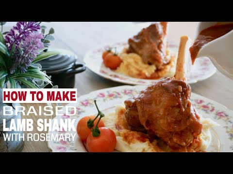 Braised Lamb Shank with Rosemary and Port Wine