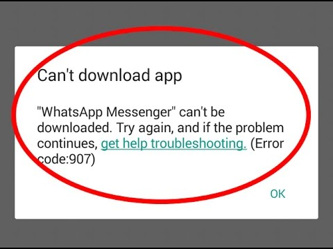 How to fix Can't download app|Error code 907 in Google play store