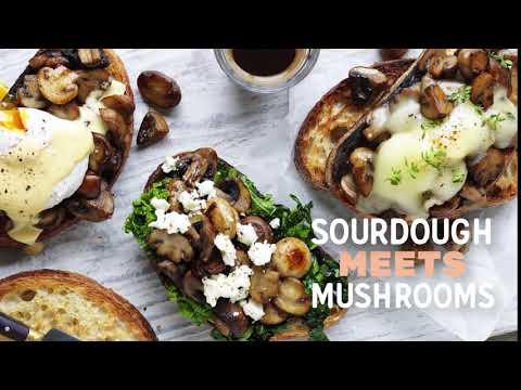 Summer Mushie Mash-ups (Mushrooms/Sourdough)