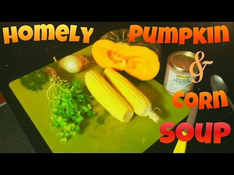 HOMELY PUMPKIN AND CORN SOUP!!  RUSSELL BRANDS FUTURE VEGAN CHEF