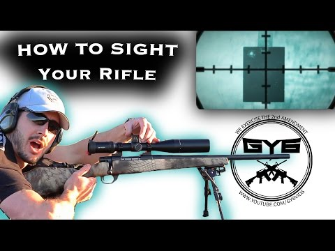 Fastest Way to Sight in a Rifle...in 2 shots!