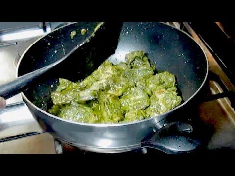 Green Chicken - Hariyali Chicken Recipe - Chicken Masala Spicy Green Curry Recipe