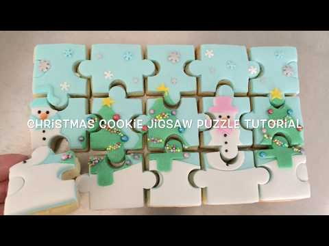 How to make a Christmas cookie jigsaw puzzle - tutorial