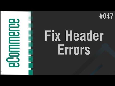 eCommerce Shop in Arabic #047 - Fix - Headers Sent Errors