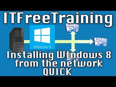 Installing Windows 8 from the network