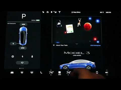 Tesla Model 3 - detailed touchscreen or center console walk through