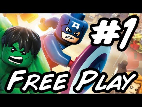 LEGO Marvel Superheroes - Part 1 - Free Play Mode - Xbox One HD Gameplay Walkthrough