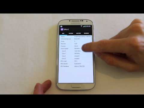 CPU Z on Galaxy S4 interrogate your device specs