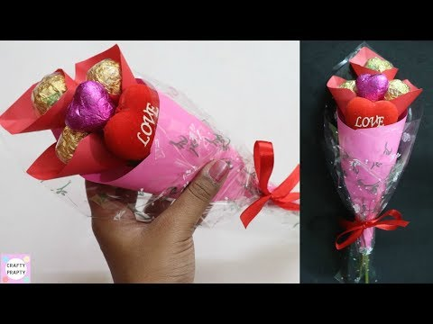 How to make chocolate bouquet / Valentine Day Gift Idea / DIY Chocolate bouquet