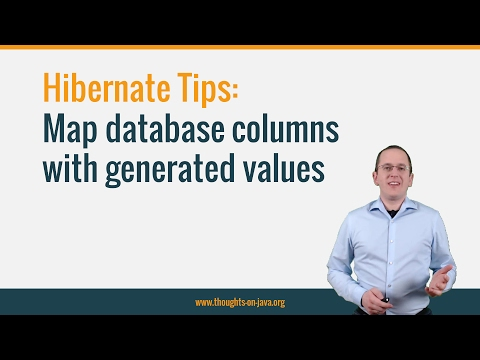 Hibernate Tip: Map database columns with generated values