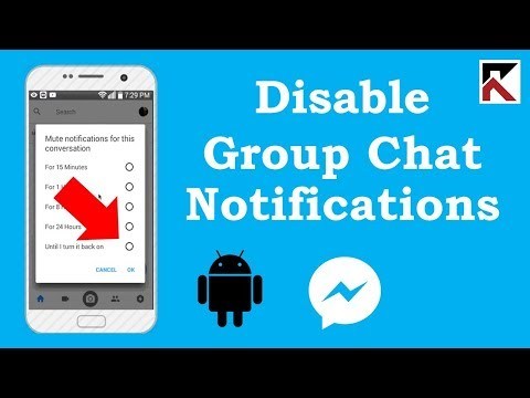 How To Turn Off Group Conversation Notifications Facebook Messenger