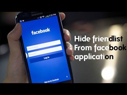 Hide facebook friendlist on facebook app