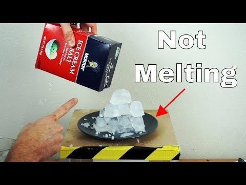 You've Been Lied To—Salt Does Not Melt Ice!