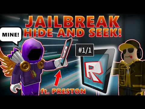 I Lose My RAREST ROBLOX ITEM, If He ARRESTS Me! (JAILBREAK FT. PRESTON!) - LINKMON99 ROBLOX