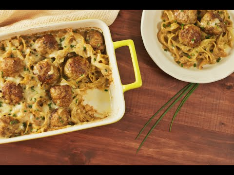 Cheesy Swedish Meatball Bake | Hungry AF