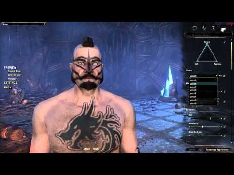 Elder Scrolls Online Character Creation - Nord (In Depth ESO Character Customization Review)