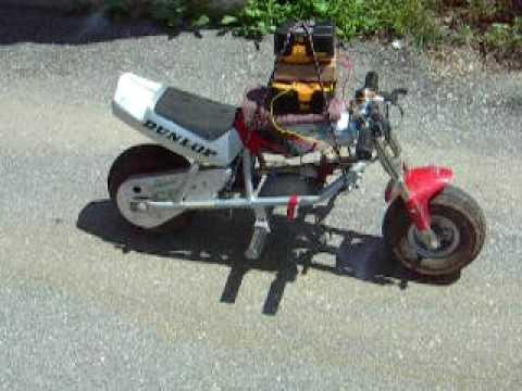 36volt electric motor run off 72volts in an 18volt Honda pocket bike motorcycle