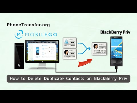 How to Delete Duplicate Contacts on BlackBerry Priv, Merge Duplicated Contacts