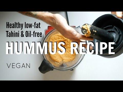 Healthy Hummus Recipe Tahini & Oil Free | VEGAN