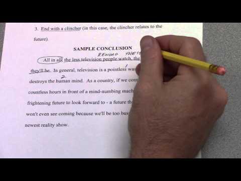 6-Paragraph Timed Argumentative Essay -- Part 7 -- Conclusion Paragraph