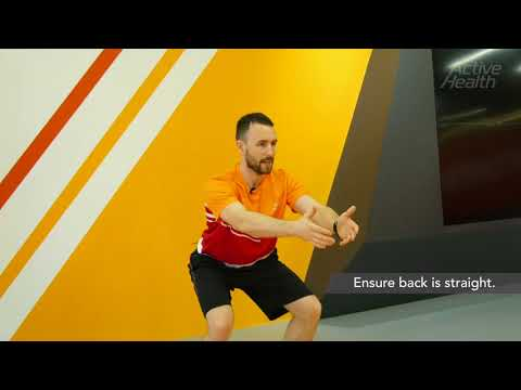 How to build muscle strength in lower back and legs with Squat With Hands Forward?