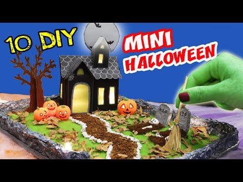 10 DIY MINIATURE HALLOWEEN - HAUNTED HOUSE - ZEN GARDEN | aPasos Crafts DIY