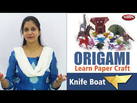 How to make Origami Paper Knife Boat in English | Origami Craft for Kids | Easy Paper Craft